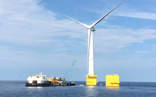 Installation of submarine cable to offshore wind power facility off Fukushima