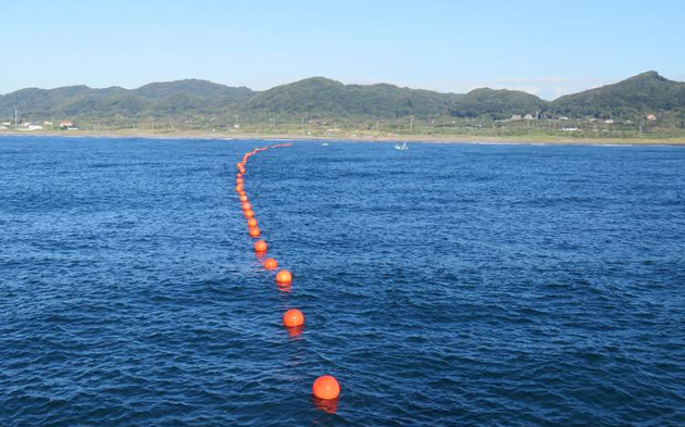 Laying of S Net observatory cable at shallows of Shirahama
